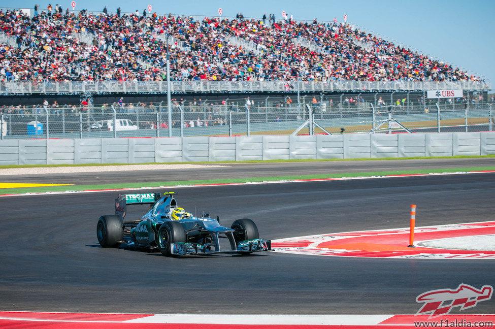Nico Rosberg, en los libres del GP de Estados Unidos