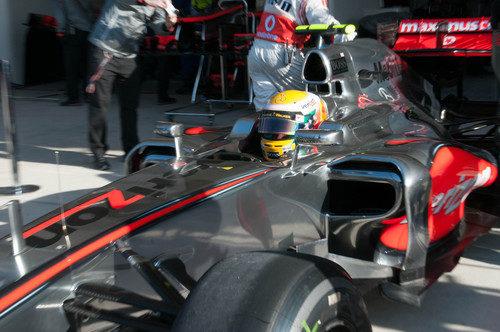 Lewis Hamilton volvió a su casco habitual