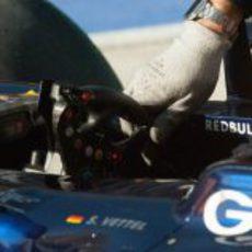 El volante de Sebastian Vettel