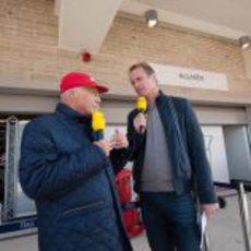 Niki Lauda, con la RTL en Austin
