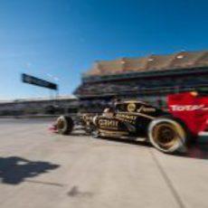 Kimi Räikkönen sale a pista en Austin