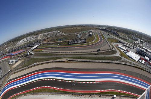 Vista aérea de parte del Circuito de las Américas en Austin