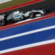 Nico Rosberg no pasó de la Q2 en Estados Unidos 2012