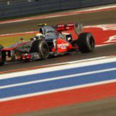 Lewis Hamilton terminó segundo en la clasificación de Estados Unidos