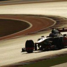 Jenson Button sufrió un problema mecánico en la clasificación