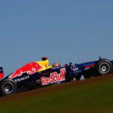 Sebastian Vettel pilota su RB8 en el Circuito de las Américas