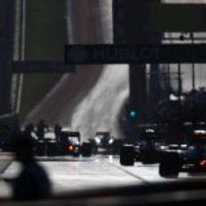 El pitlane del Circuito de las Américas