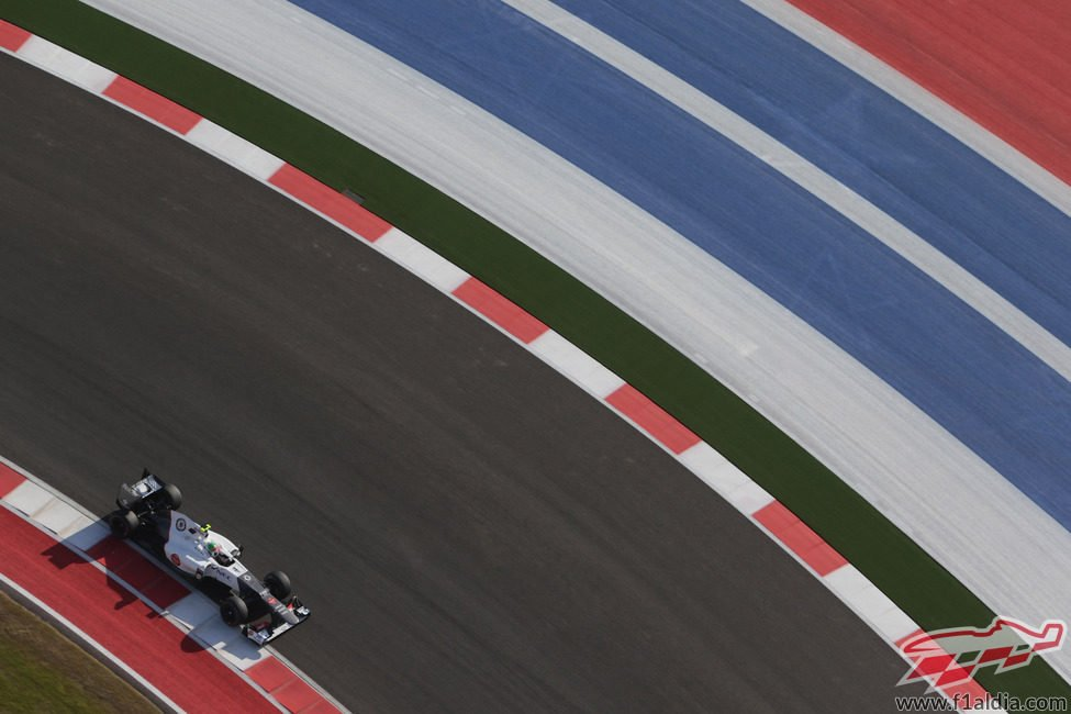Sergio Pérez rueda en clasificación
