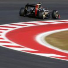 Romain Grosjean rueda en Austin