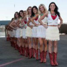 Las 'pit babes' del GP de Estados Unidos 2012