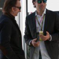 Dario Franchitti y Emerson Fittipaldi en Estados Unidos