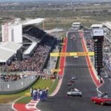 El 'drivers parade' sube hasta la primera curva del Circuito de las Américas