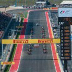 Parrilla de salida del GP de Estados Unidos 2012