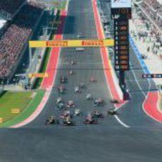 Salida del GP de Estados Unidos 2012
