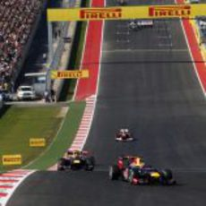 Sebastian Vettel lidera la carrera de Austin
