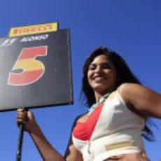 La 'pit babe' de Fernando Alonso en EE.UU.