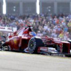 Fernando Alonso en el GP de Estados Unidos 2012