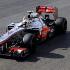 Lewis Hamilton celebra su victoria en Austin
