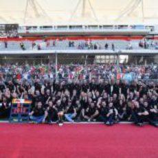 El equipo Red Bull celebra su título de constructores de 2012