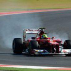 Felipe Massa se pasa de frenada en el Circuito de las Américas