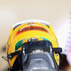 Lewis Hamilton con otro casco en Austin