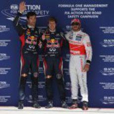 Vettel, Hamilton y Webber, los mejores de la clasificación en Austin