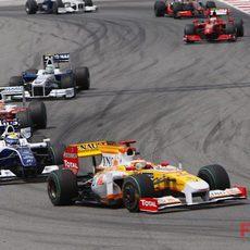 Alonso en la salida del GP de España
