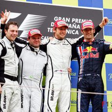 Podio del GP de España 2009
