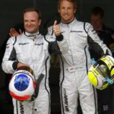 Rubens Barrichello y Jenson Button