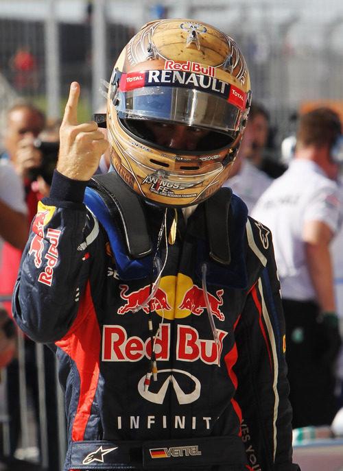 Sebastian Vettel levanta su dedo otra vez, en Estados Unidos