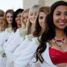 'Pit babes' del GP de Estados Unidos muy sonrientes