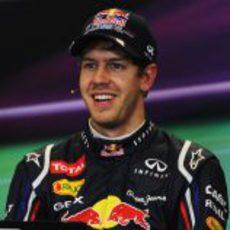 Sebastian Vettel en la rueda de prensa tras la clasificación de EE.UU.