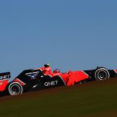 Charles Pic en la clasificación del GP de Estados Unidos 2012