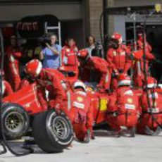 Parada en boxes de Fernando Alonso en EE.UU.