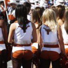 Muchas 'cowgirls' en el GP de Estados Unidos 2012