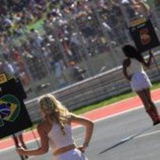 La 'pit babe' de Senna en el Circuito de las Américas
