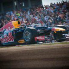 Sebastian Vettel en la carrera del GP de EE.UU. 2012