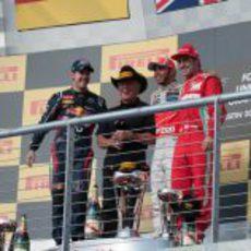 Vettel, Andretti, Hamilton y Alonso en el podio de EE.UU.