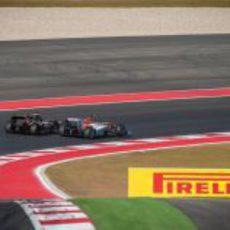 Räikkönen y Hülkenberg en paralelo en la carrera de Austin