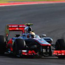 Lewis Hamilton en la carrera del GP de Estados Unidos 2012