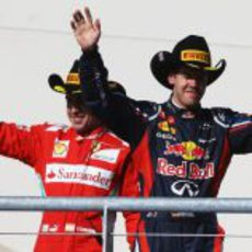 Vettel y Alonso salen al podio de Estados Unidos 2012