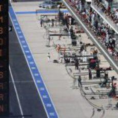 'Pit lane' y zona de boxes del Circuito de las Américas