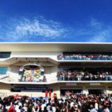 El podio del GP de Estados Unidos 2012