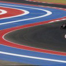 Romain Grosjean rueda en el Circuito de las Américas