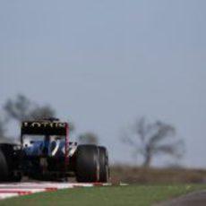 Kimi Räikkönen prueba el nuevo trazado de Austin