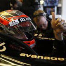 Romain Grosjean, listo para disputar los libres del viernes en Austin