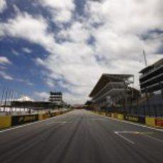 Recta principal del circuito de Interlagos
