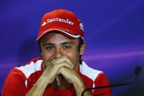 Felipe Massa en la rueda de prensa de la FIA del jueves en Brasil