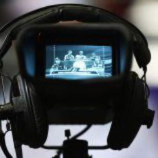 Grabando la rueda de prensa de la FIA del jueves en Brasil