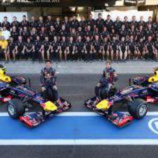 Foto oficial del equipo Red Bull en Brasil
